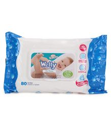 Xtra Care Wetty Wipes Sea Breeze - 80 Pieces