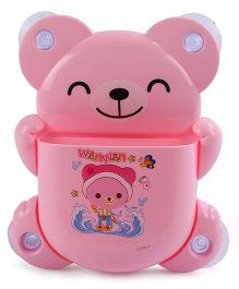Toothbrush Stand Bear Shape - Pink