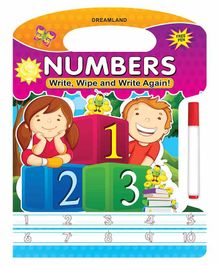 Write Wipe And Write Again Numbers - English