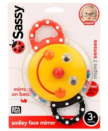 Sassy Smiley Face Rattle - Multicolour