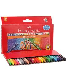 Faber Castell Wax Crayons - 24 Shades