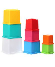 Funskool Giggles Stacking 8 Cubes - Multicolor