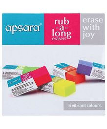 Apsara Rub A Long Erasers - Pack Of 20