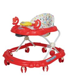 Sunbaby Ride-On Walker With Play Tray - Red (Print May Vary)
