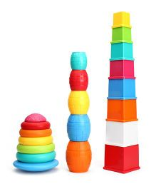 Giggles Stack N Nest Toy Set 3 in 1 - Multi Color