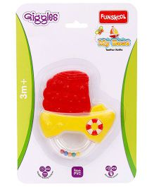 Giggles Teething Rattle My Boat - Yellow