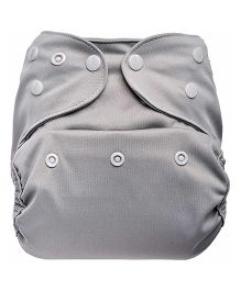 Bumberry Cloth Diaper Cover With One Bamboo Insert - Grey