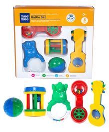 Mee Mee Cute Companion Rattle Set Pack Of 5 (Color & Design May Vary)