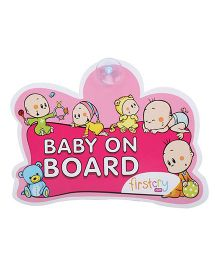 Firstcry Baby On Board Sign - Pink