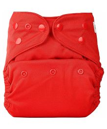 Bumberry Cloth Diaper Cover With One Bamboo Insert - Red