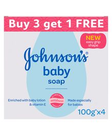Johnson's baby Soap 100 gm Buy 3 Get 1 Free