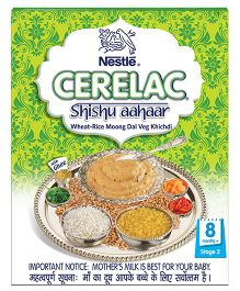 Nestle Cerelac Shishu Aahaar Wheat Rice Moong Dal Veg Khichidi Stage 2 - 300 gm