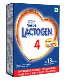 Nestle Lactogen 4 Follow-Up Formula Powder - After 18 Months upto 24 Months Stage 4 400gm Bib Pack