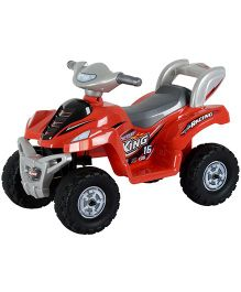 Toyhouse Desert King Small ATV Bike 6V Rechargeable Battery Operated Ride On - Red