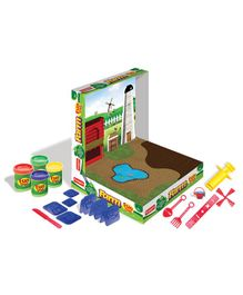 Fun Dough Funskool Fun Farm - Multi Color