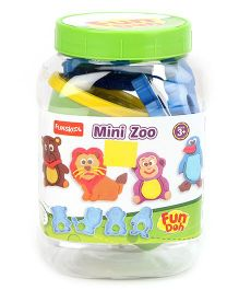 Fun Dough Funskool Mini Zoo - Multi Color
