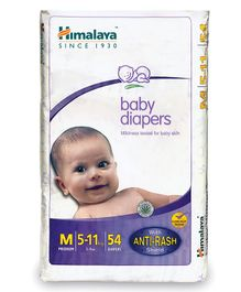 Himalaya Herbal Baby Diapers Medium - 54 Pieces