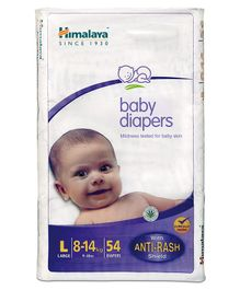 Himalaya Herbal Baby Diapers Large - 54 Pieces