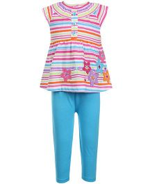Peanut Buttons 2 Piece Blue Tunic Set
