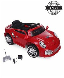 Babyhug Battery Operated Ride On With Remote Control & Safety Harness - Red
