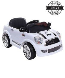 Babyhug Battery Operated Ride On Car With 2 Point Safety Harness & Parental Remote Control - White