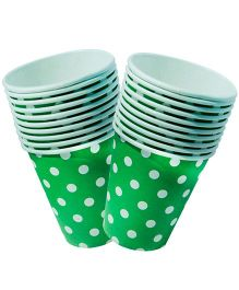 Partymanao Polka Dotted Cup Pack of 10 Pieces - Green