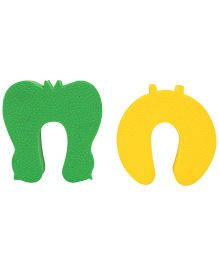 Cutez Door Guards Small Green And Yellow - 2 Pieces