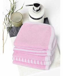 My Milestones Premium Washcloths Pack of 5 - Pink