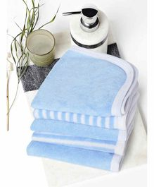 My Milestones Premium Washcloths Pack of 5 - Blue