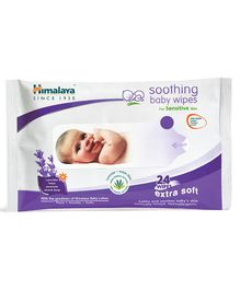 Himalaya Herbal Soothing Baby Wipes - 24 Pieces