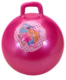 Barbie Hopper Jumping Ball With Pump Pink - 55 cm