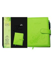 Tiara Diaries Pregnancy and Baby Journal Mom Diaries Green