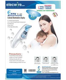 Solomon Ezzy Touch Infrared Ear Thermometer - White And Blue