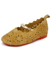 Beanz Samantha Belly Shoes - Mustard Color