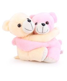 Liviya Love Pair Teddy Bear Soft Toy Cream & Pink - Height 34 cm