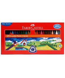 Faber Castell Erasable Plastic Crayons - Pack Of 25