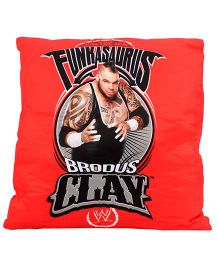 Simba Square Shaped Cushion Brodus Clay Print - Red