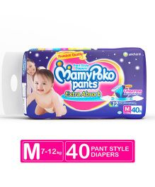 MamyPoko Extra Absorb Pant Style Diapers Medium - 40 Pieces