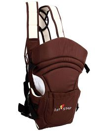 1st Step 2 Way Baby Carrier With Cross-Over Shoulder Straps And Storage Pockets - Brown