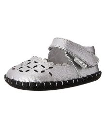 Pediped Katelyn Sandal With Strap - Silver