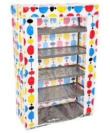Baby Storage Rack Five Shelves With Clear Front Cover - Multicolor