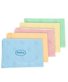 Babyhug Pearl Finish Plastic Bed Protector Sheet Medium - Set of 5