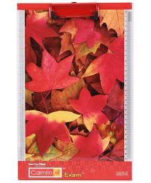 Camlin Exam Pad Leaf Print - Red