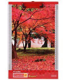 Camlin Exam Pad Tree Print - Red