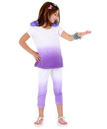 Bonny Billy & Blue Dress And Legging Set - Purple