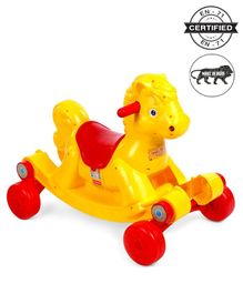 Babyhug Rock 'O' Ride Pony Ride-on - Yellow
