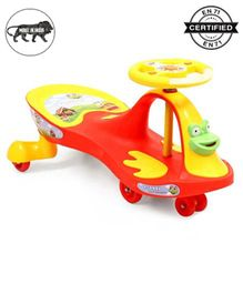 Babyhug Froggy Gyro Swing Car With Easy Steering Wheel - Red