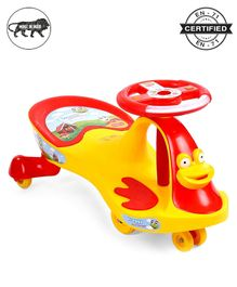 Babyhug Froggy Gyro Swing Car With Easy Steering Wheel - Yellow