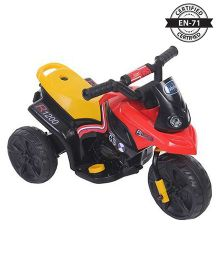 Babyhug Battery Operated 3 Wheel ATV Ride-On With Footrest - Red & Yellow