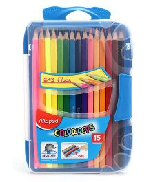 Maped Colour Pencils With Box 15 Shades - Blue